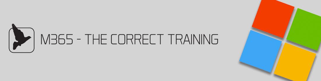 M365 - The correct training